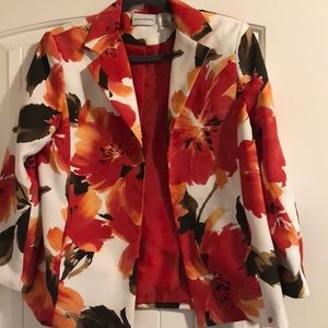 Alfred Dunner Size 8 Floral Blazer